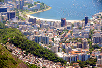 Flamengo beach from Corcovado