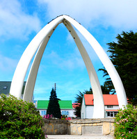 Whale Arch - made of jaw bones from 2 Blue whales