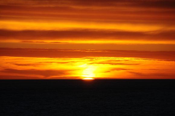 Sun setting - 854pm