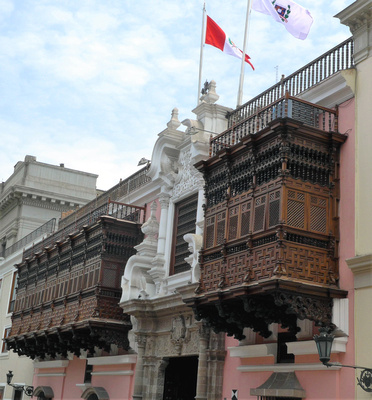 Famous wooden balconies of Lima