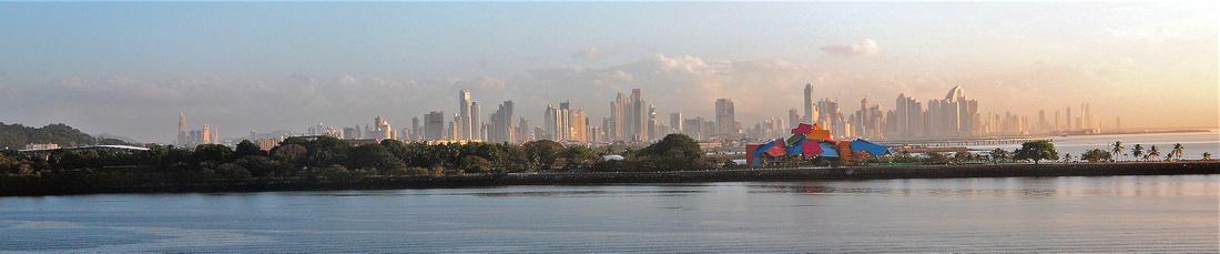 Looking towards Panama City at Pacific entrance