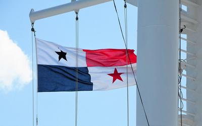 Panama flag on MV Aurora