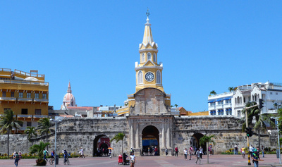 Entrance to old walled city of Cartagena