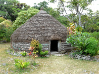 Traditional hut in Easo, Lifou island