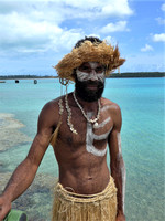 Ile de Pines resident in traditional native look