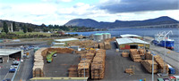 Lumber is a key export out of Tasmania