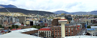 Looking towards part of downtown Hobart from the port