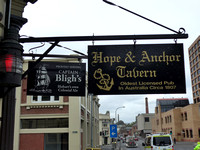 Sign outside the Hope & Anchor Pub