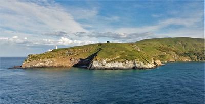 Goat Island at exit to Otago Peninsula